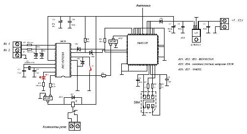 Схема gsm-сигнализации