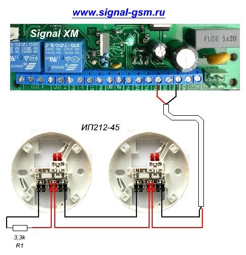 Схема подключения извещателя по 2 х проводному шлейфу извещатель пожарный ип 212 45 состоит Ип 212 41м общее описание...